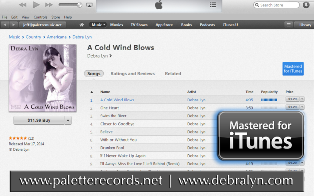 Debra Lyn's - A Cold Wind Blows - Mastered for iTunes